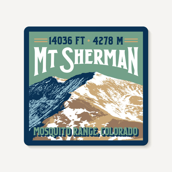 Mount Sherman Colorado 14er Mountain Travel Decal Sticker