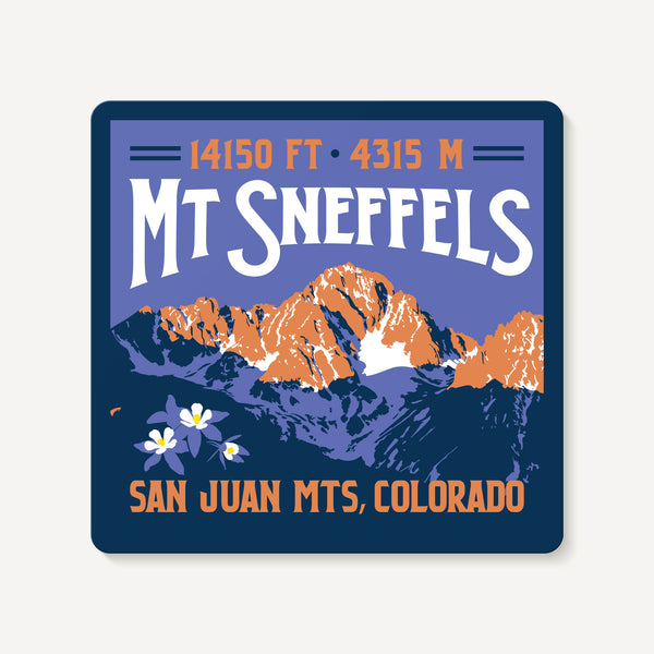 Mount Sneffels Colorado 14er Mountain Travel Decal Sticker