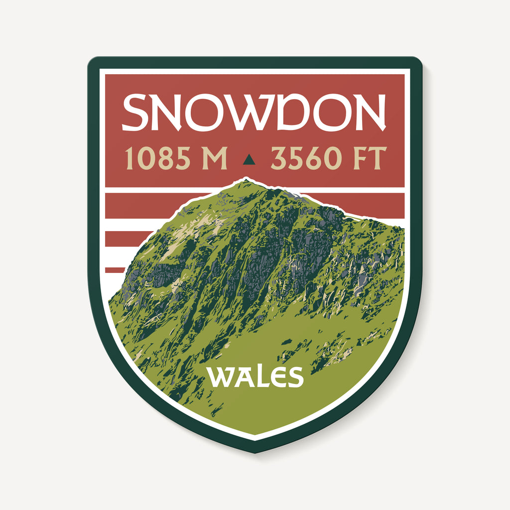 Snowdon Wales United Kingdom Mountain Travel Decal Sticker