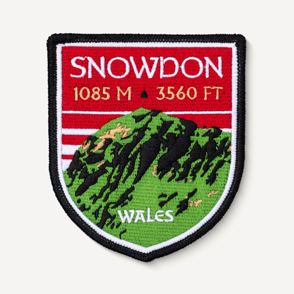 Snowdon Wales UK Embroidered Iron-on Patch