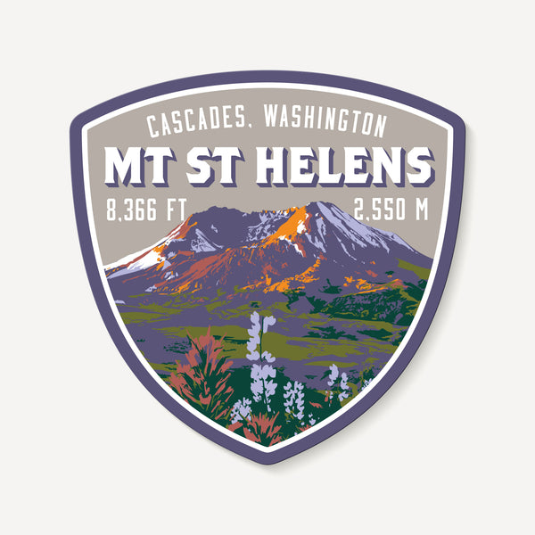 Mount St. Helens Cascades Washington Decal Sticker