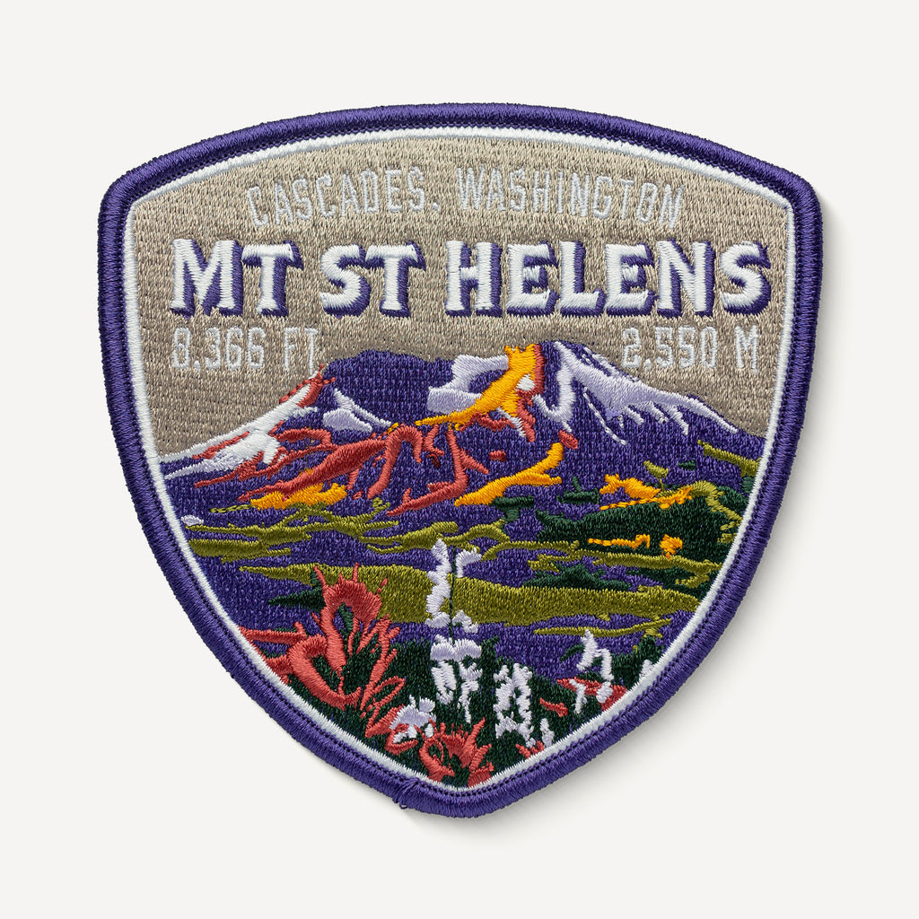 Mount St. Helens embroidered patch
