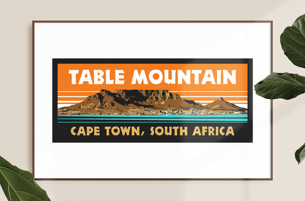 Table Mountain South Africa Giclee Art Print