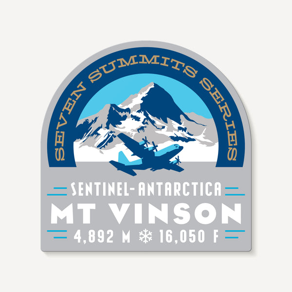 Vinson Massif Antarctica Seven Summits Mountain Travel Decal Sticker