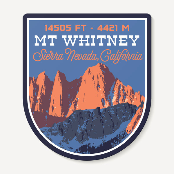 Mt. Whitney Decal Sticker