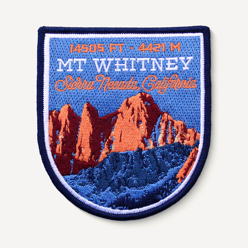 Mount Whitney Sierra Nevada California Mountain Patch