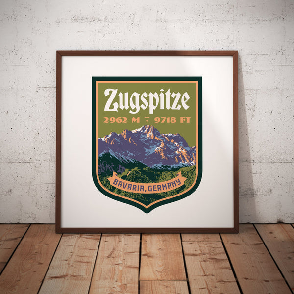 Zugspitze Bavarian Alps Germany Giclee Art Print