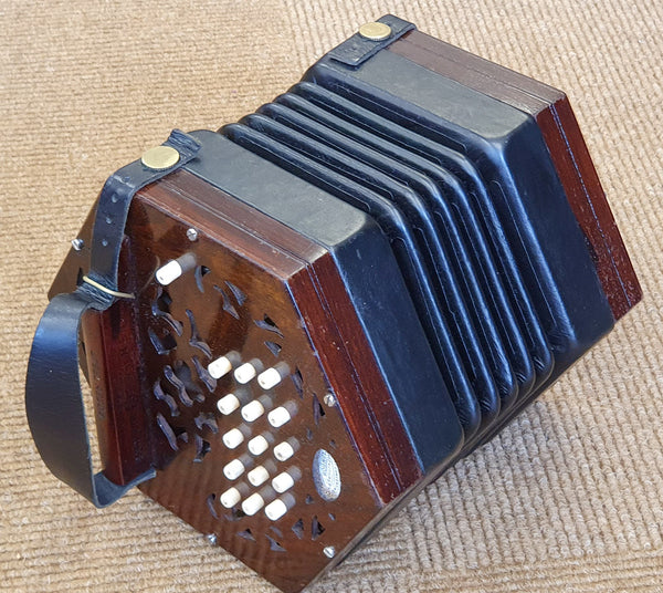 Lachenal 30 key C/G Anglo Concertina - Steel reeds