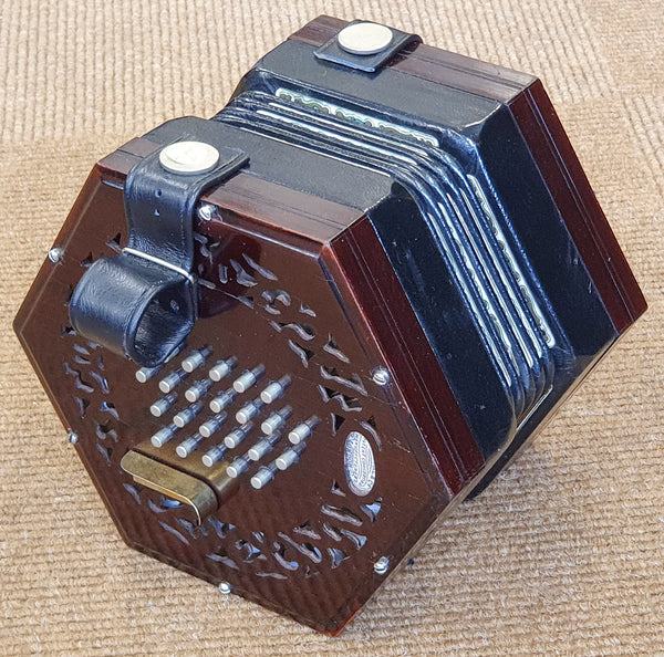 Lachenal 48 key English Concertina - Brass reeds