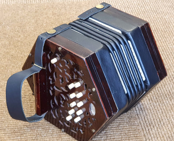 Lachenal 20 key C/G Anglo Concertina - Steel reeds