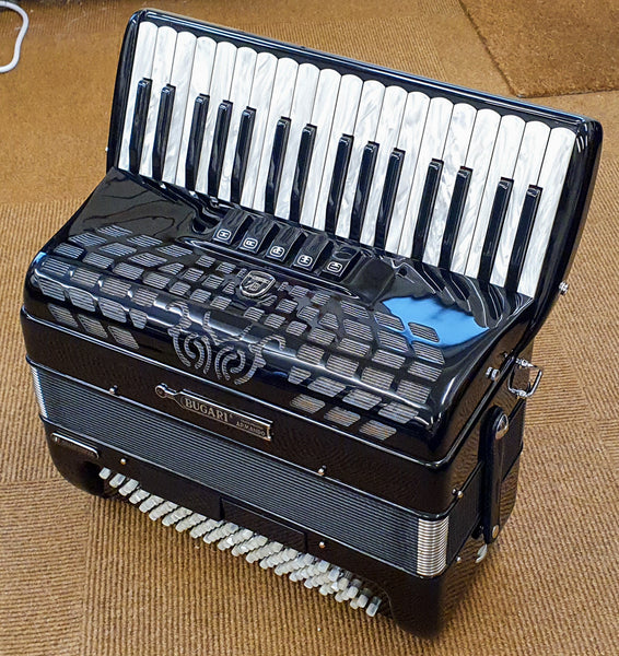 Second Hand Bugari Championfisa 3 voice 96 bass Piano Accordion