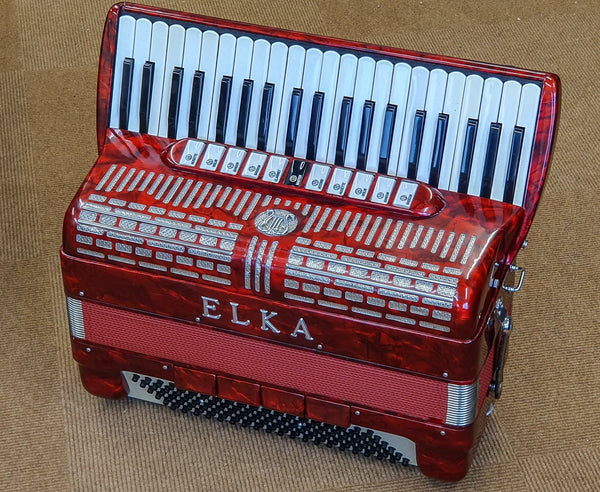 Elka Musette tuned 4 voice 120 bass Piano Accordion