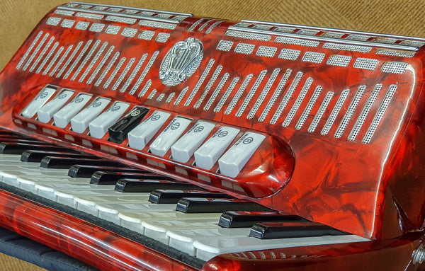 Elka Musette tuned 4 voice 120 bass Piano Accordion - TheReedLounge.com