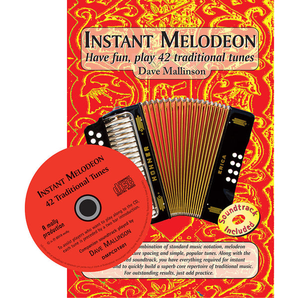 Instant Melodeon - Dave Mallinson - Book and CD - TheReedLounge.com