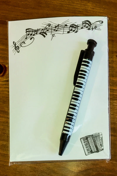 Accordion writing pad gift set complete with pen - TheReedLounge.com