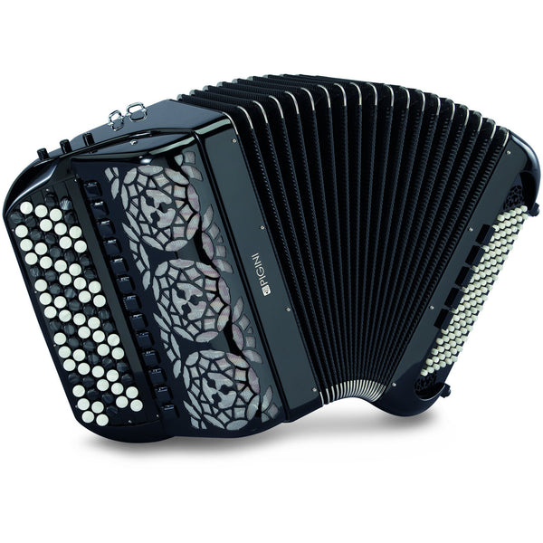 Pigini Arabesque 96 bass Chromatic Button Accordion - TheReedLounge.com