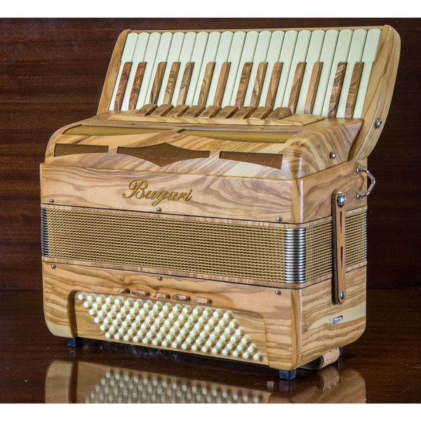 Bugari Folk 96 bass Deluxe piano accordion - TheReedLounge.com