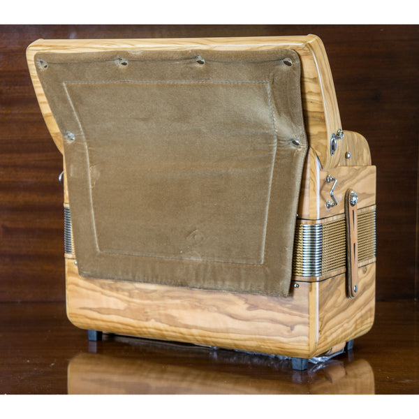 Bugari Folk Olive 96 bass Deluxe piano accordion - TheReedLounge.com