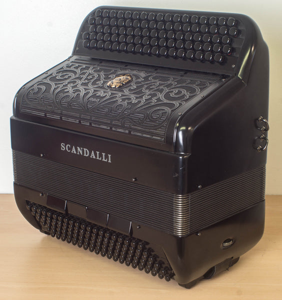 Scandalli Cromo F Black model C system Accordion