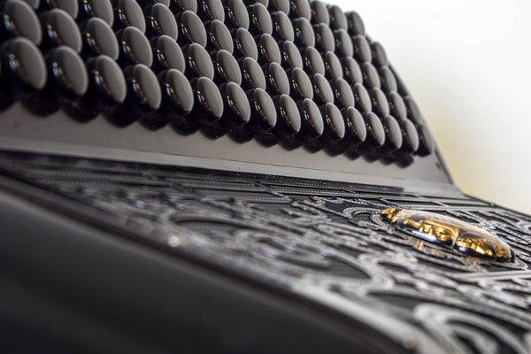 Scandalli Cromo F Black model C system Accordion - TheReedLounge.com