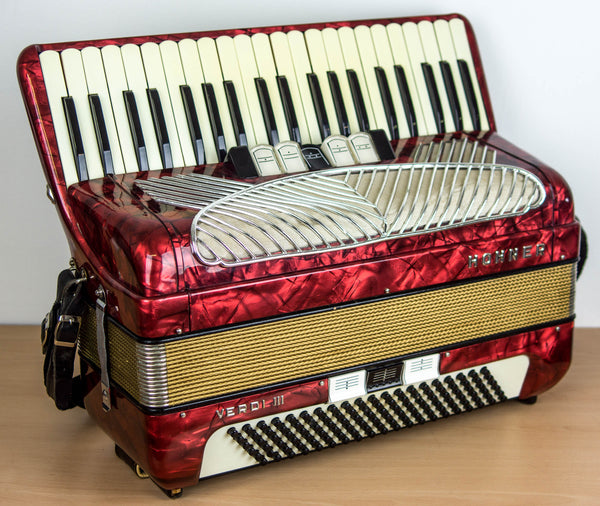 Hohner Verdi III 120 bass 3 voice piano accordion - TheReedLounge.com