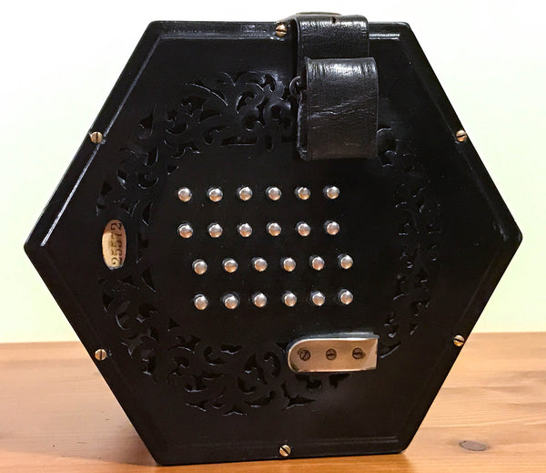 Wheatstone raised ebony ends 48 key English concertina - TheReedLounge.com