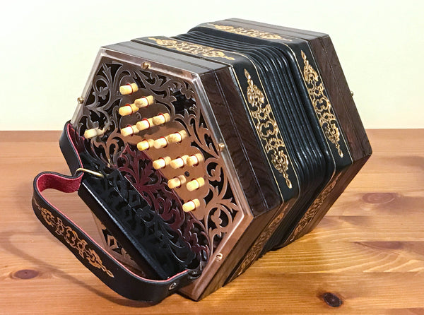 Jeffries 30 key C/G Anglo Concertina - TheReedLounge.com