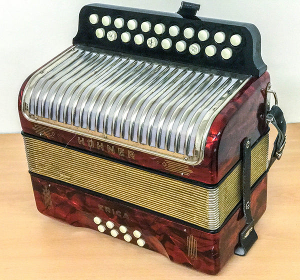 Hohner Erica D/G Melodeon, vintage Made in Germany - TheReedLounge.com