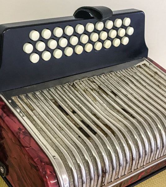 Hohner Corona II A/D/G 2 voice Melodeon - TheReedLounge.com