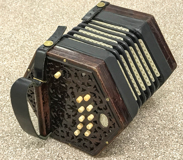 Lachenal 20 key Anglo Concertina C/G Vintage