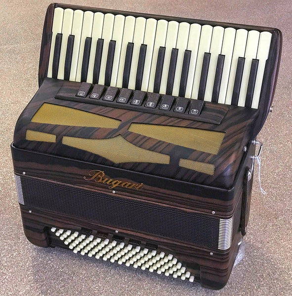 Bugari Folk Ebony 96 bass Deluxe piano accordion - TheReedLounge.com