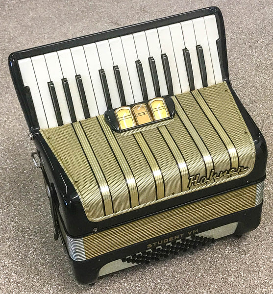 Hohner Student V 48 bass piano accordion, Black
