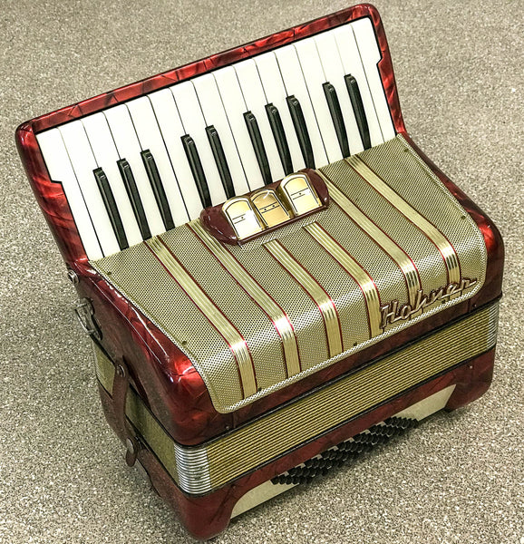 Hohner Student V 48 bass piano accordion, Red