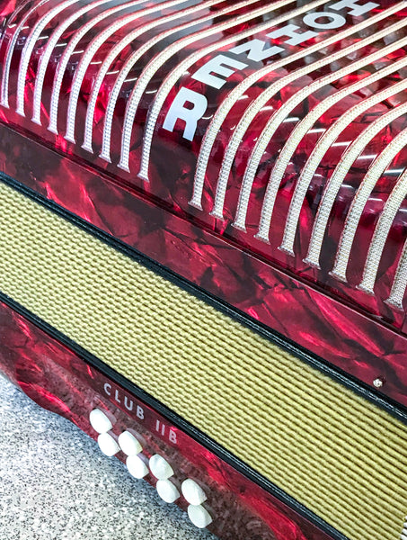 Hohner Club IIb C/F Melodeon, de-clubbed - TheReedLounge.com