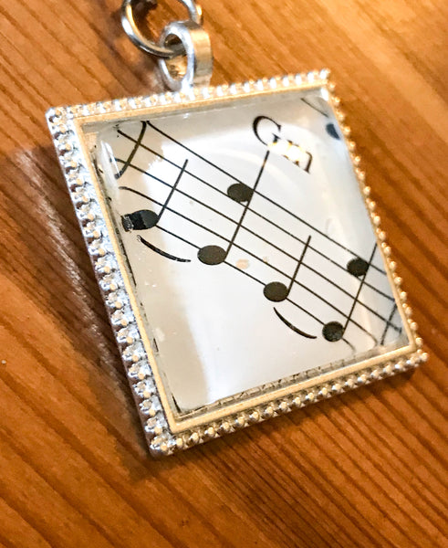 Musical Notation Keyring - TheReedLounge.com