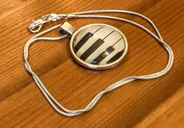 Necklace featuring Piano Keyboard