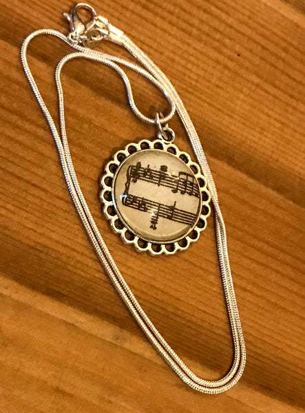 Necklace featuring Musical Notation
