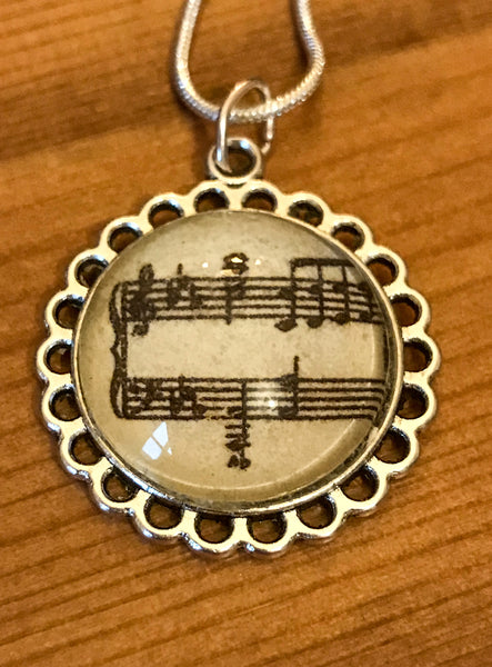 Necklace featuring Musical Notation - TheReedLounge.com