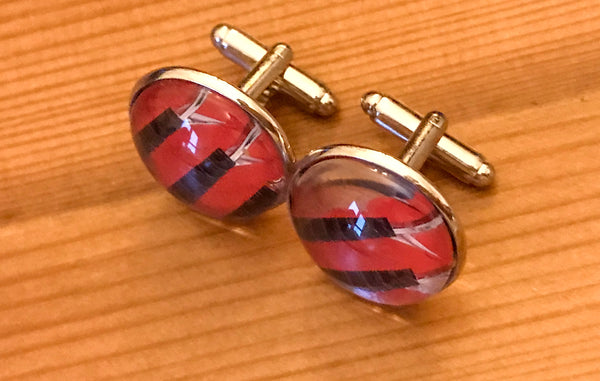 Cufflinks, featuring red accordion bellows - TheReedLounge.com