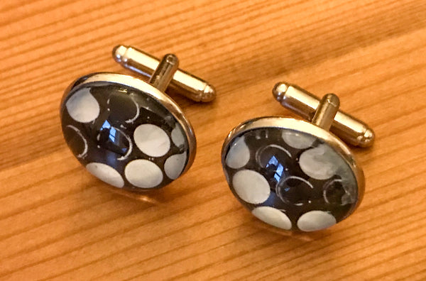 Cufflinks, featuring button accordion keyboard - TheReedLounge.com