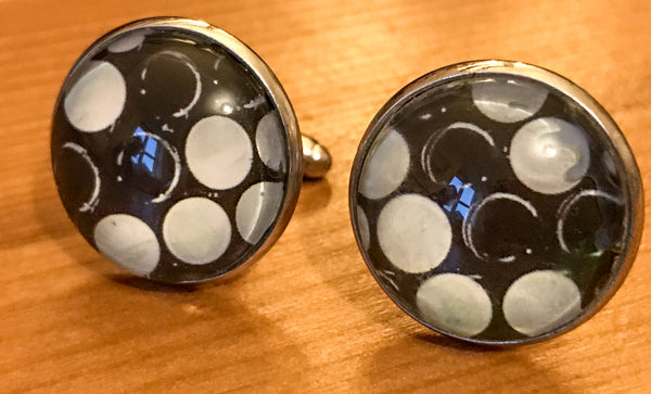 Cufflinks, featuring button accordion keyboard