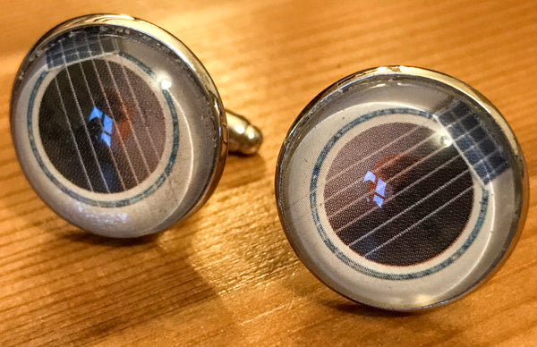 Cufflinks, featuring guitar sound hole