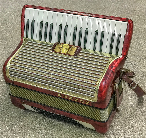 Hohner Arietta 1M 2 voice 72 bass piano accordion - TheReedLounge.com