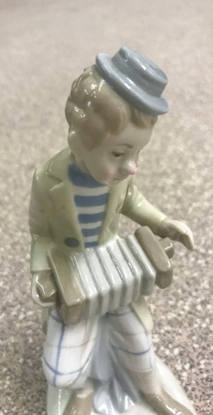 Lladró style Figurine of Accordion Player - TheReedLounge.com