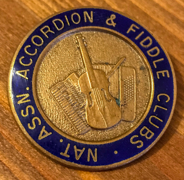 National Association of Accordion and Fiddle Clubs Vintage Enamal and Metal Badge - TheReedLounge.com