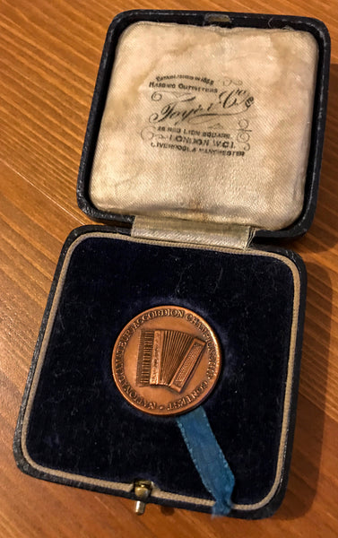 National Accordion Championship Medal and Case
