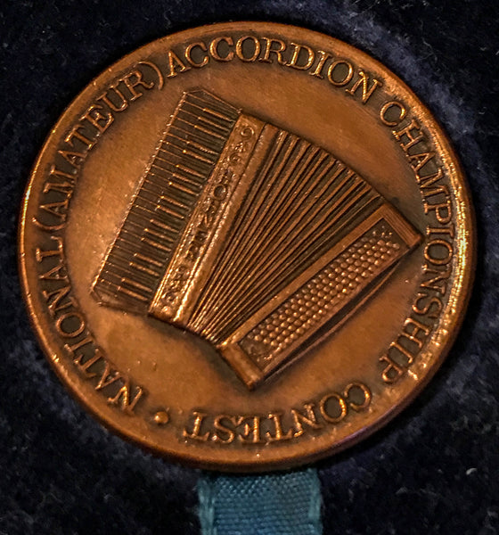 National Accordion Championship Medal and Case - TheReedLounge.com