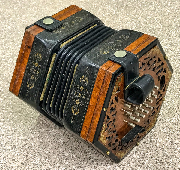 Wheatstone 48 key English Concertina, Brass reeds