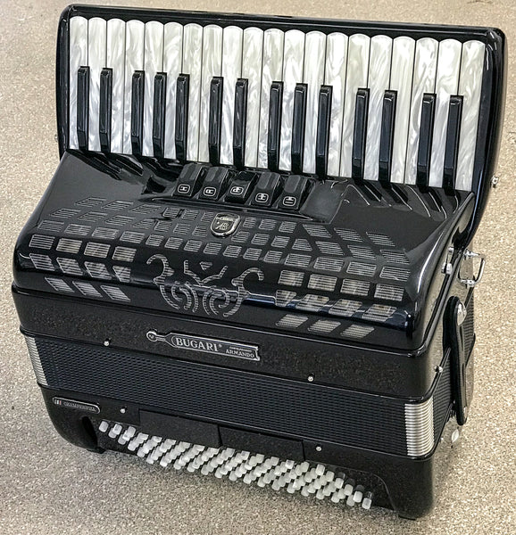 Bugari Championfisa 115/CH 3 voice 96 bass Piano Accordion - TheReedLounge.com