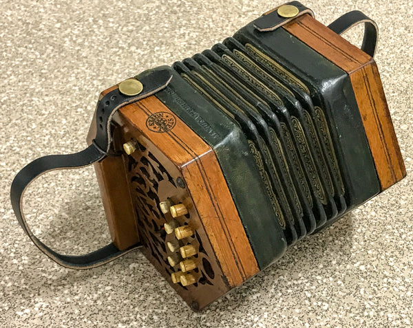 Minature 20 key Anglo Concertina in F/Bb
